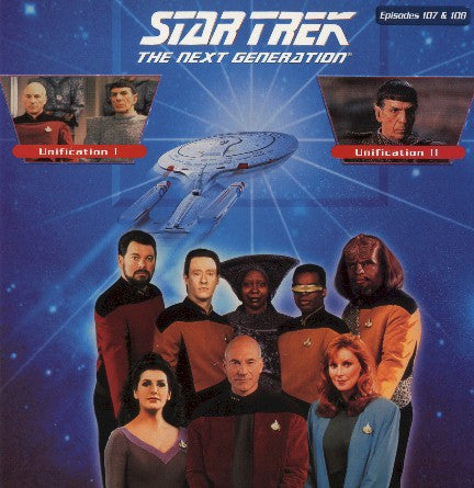 Star Trek Next Generation #107/108: Unification #1 & 2 LaserDisc