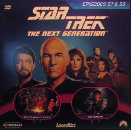 Star Trek Next Generation #057/58: Vengeance Factor/The Defector LaserDisc