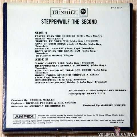 Steppenwolf ‎– The Second reel to reel back cover