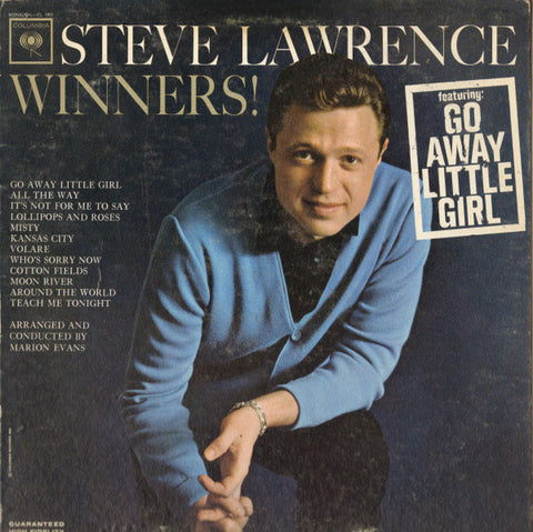 Steve Lawrence ‎– Winners! (1963) Cheap Vinyl Record