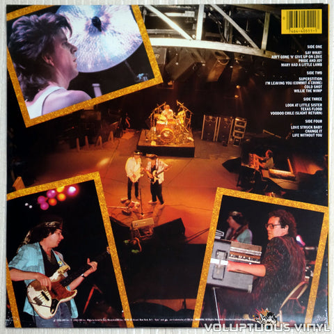 Stevie Ray Vaughan And Double Trouble ‎– Live Alive - Vinyl Record - Back Cover