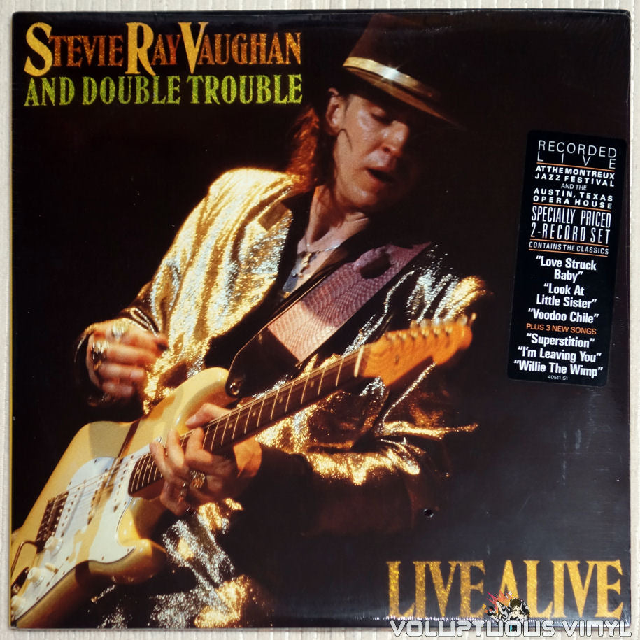 Stevie Ray Vaughan And Double Trouble ‎– Live Alive - Vinyl Record - Front Cover