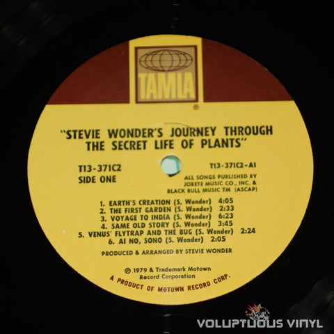 Stevie Wonder ‎– Journey Through The Secret Life Of Plants - Vinyl Record - Tamla Label