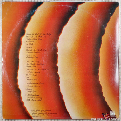 Stevie Wonder ‎– Songs In The Key Of Life vinyl record back cover