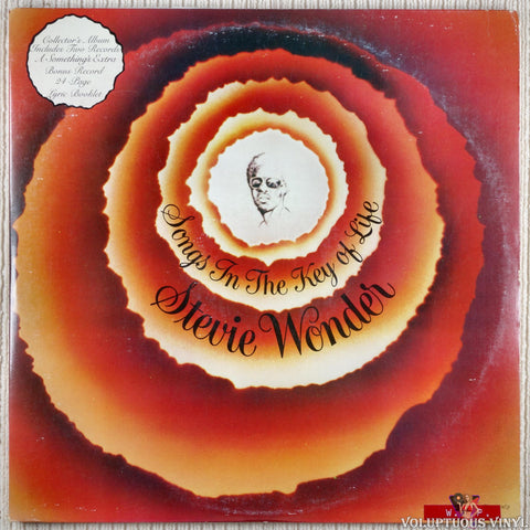 Stevie Wonder ‎– Songs In The Key Of Life vinyl record front cover