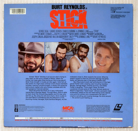 Stick - Laserdisc - Back Cover