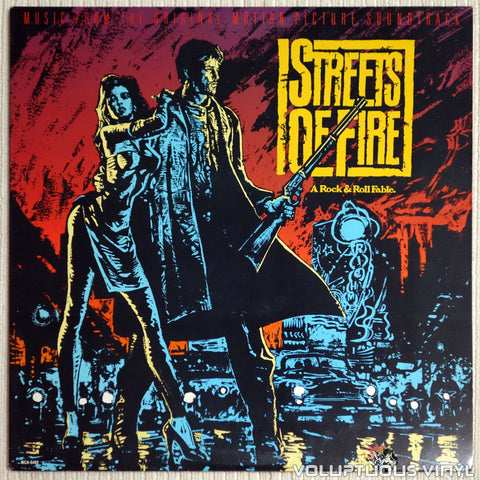 Various ‎– Streets Of Fire Soundtrack - Vinyl Record - Front Cover