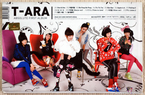 T-ara ‎– Absolute First Album CD back cover