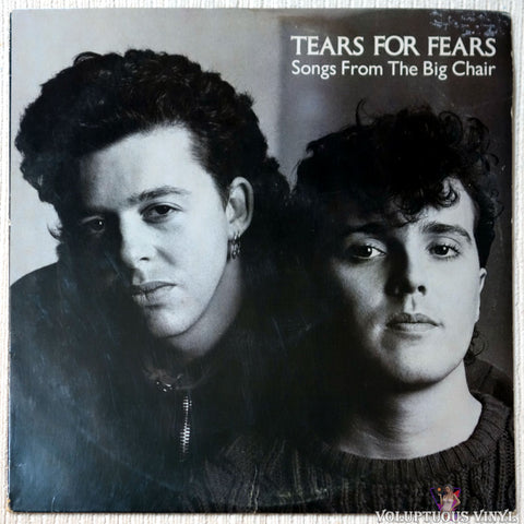 Tears For Fears ‎– Songs From The Big Chair - Vinyl Record - Front Cover