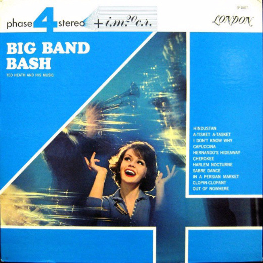 Ted Heath And His Music ‎– Big Band Bash - Vinyl Record - Front Cover