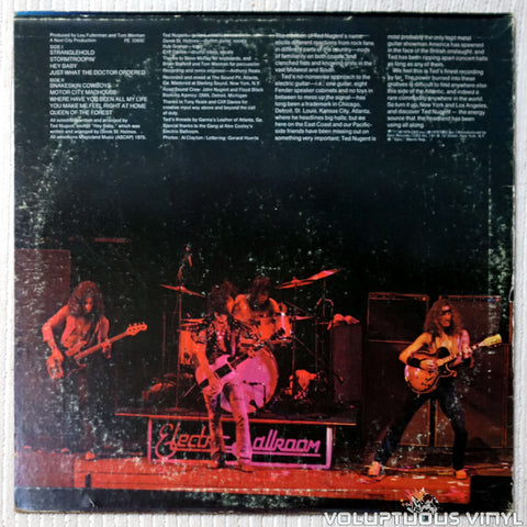 Ted Nugent ‎– Ted Nugent - Vinyl Record - Back Cover
