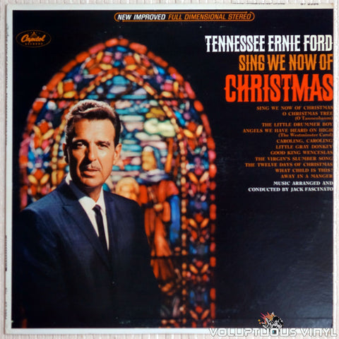 Tennessee Ernie Ford ‎– Sing We Now Of Christmas - Vinyl Record - Front Cover