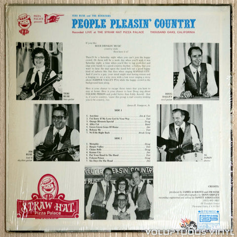 Teri Ruse And The Roosters ‎– People Pleasin' Country Vol. 1 - Vinyl Record - Back Cover