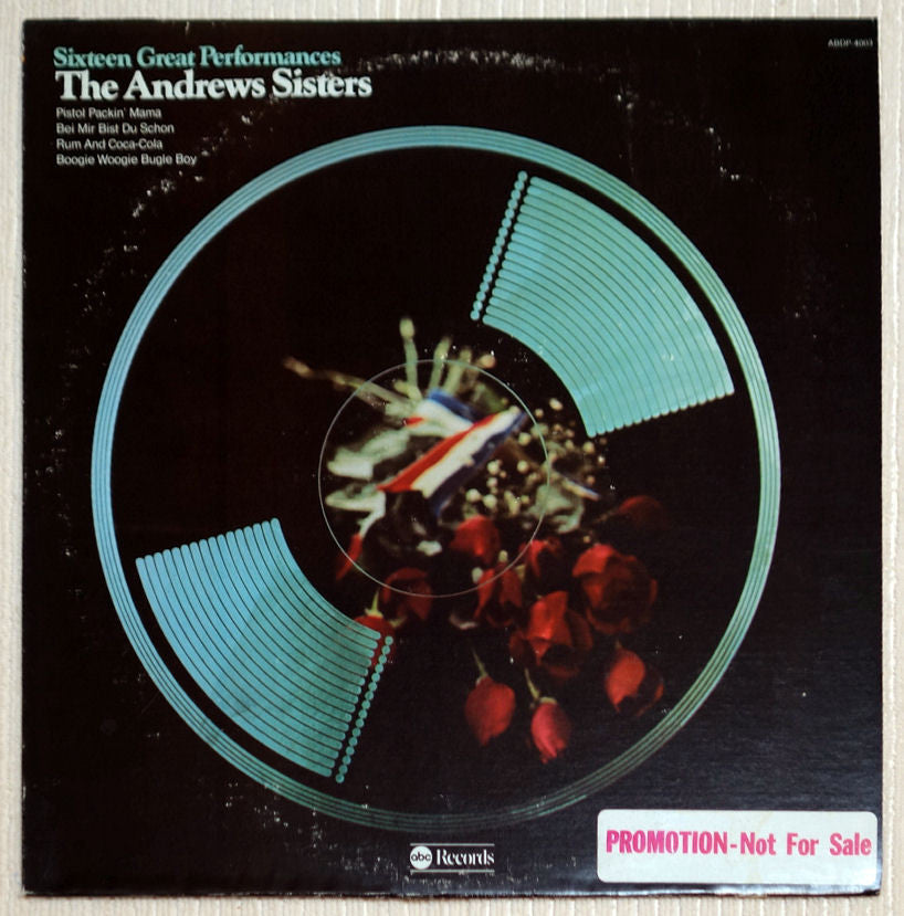 The Andrews Sisters ‎Sixteen Great Performances Vinyl Record Front Cover