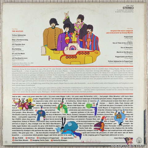The Beatles ‎– Yellow Submarine vinyl record back cover