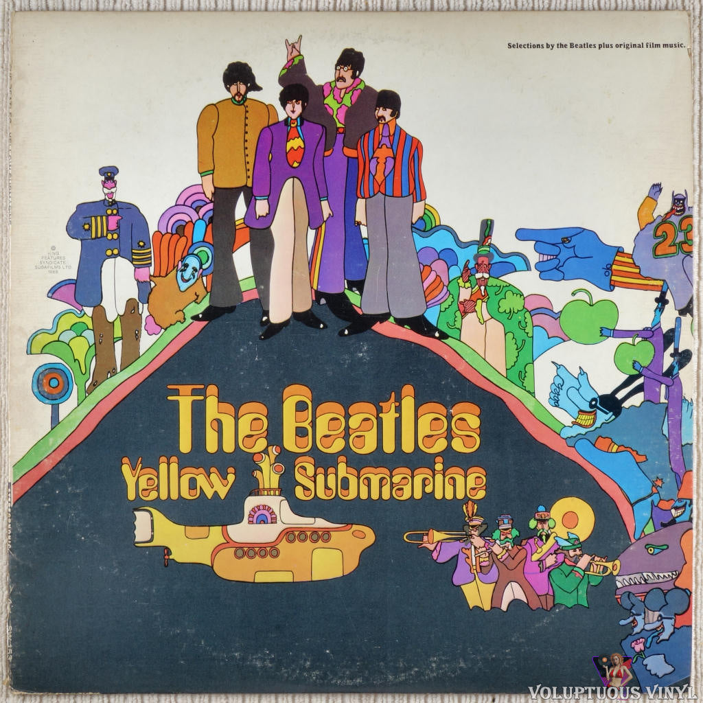 The Beatles ‎– Yellow Submarine vinyl record front cover