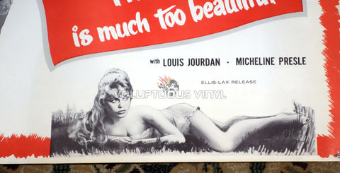 Her Bridal Night [The Bride Is Much Too Beautiful] (1958) - US Half Sheet - Brigitte Bardot In Lingerie