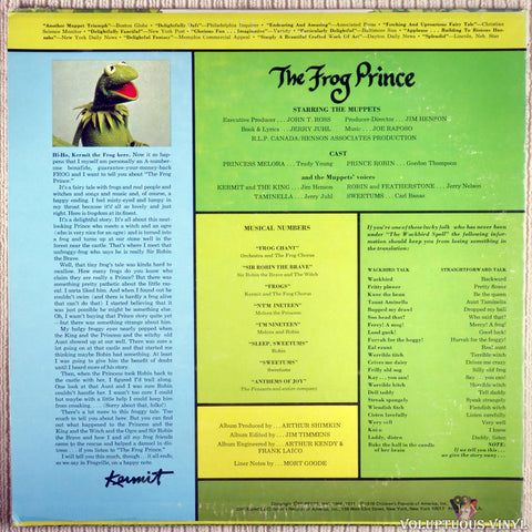 The Muppets ‎– The Frog Prince vinyl record back cover