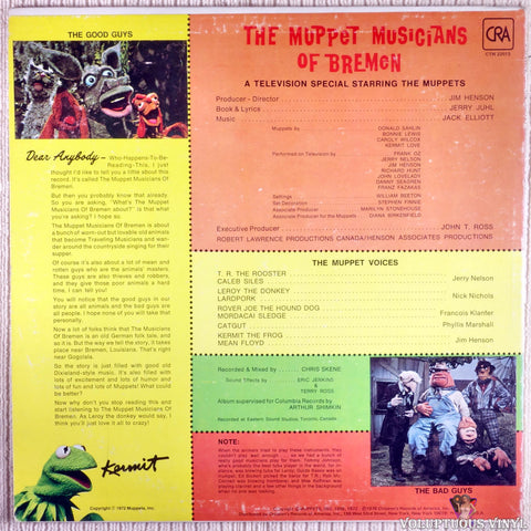 The Muppets ‎– The Muppet Musicians Of Bremen vinyl record back cover