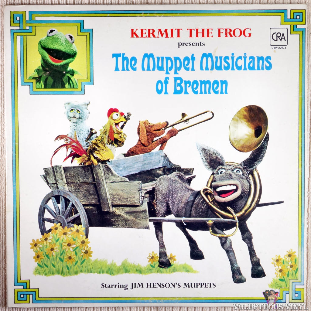 The Muppets ‎– The Muppet Musicians Of Bremen vinyl record front cover
