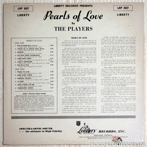 The Players ‎– Pearls Of Love - Vinyl Record - Back Cover
