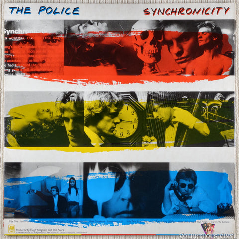 The Police ‎– Synchronicity vinyl record back cover