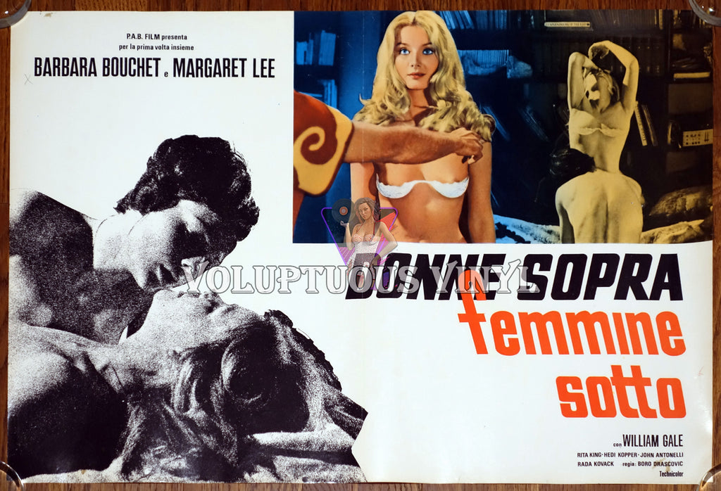 The Rogue (1971) Italian Fotobusta - Barbara Bouchet In Bra