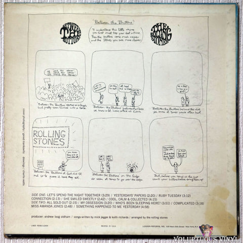 The Rolling Stones ‎– Between The Buttons vinyl record back cover