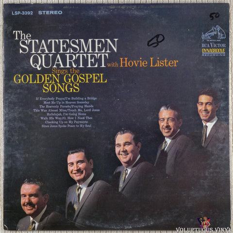 The Statesmen Quartet, Hovie Lister ‎– Golden Gospel Songs (1965) Stereo
