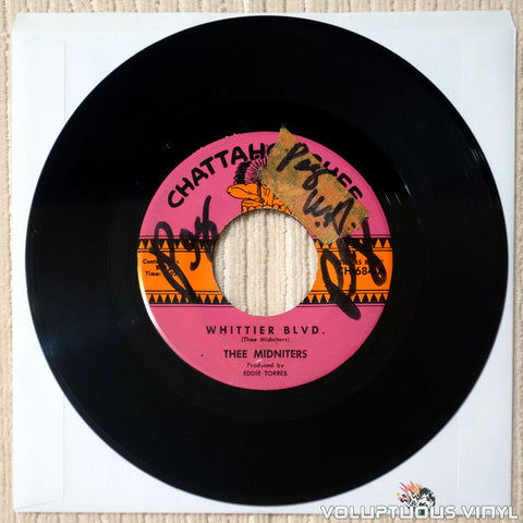 "Thee Midniters ‎– Whittier Blvd. / Evil Love (1965) 7"" Single"