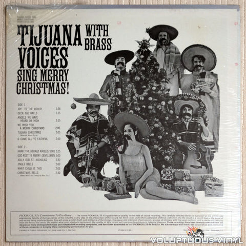 Tijuana Voices ‎– Sing Merry Christmas With Brass - Vinyl Record - Back Cover