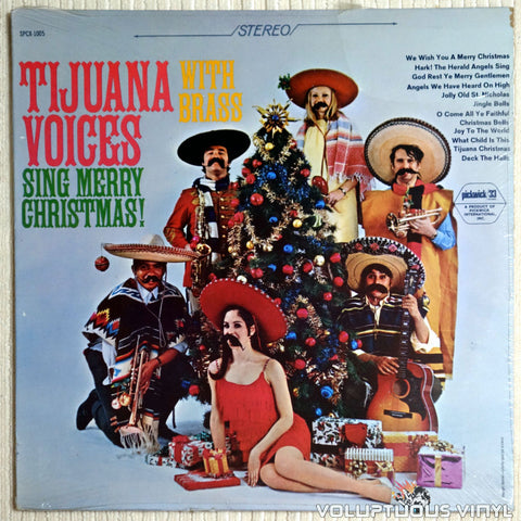 Tijuana Voices ‎– Sing Merry Christmas With Brass - Vinyl Record - Front Cover