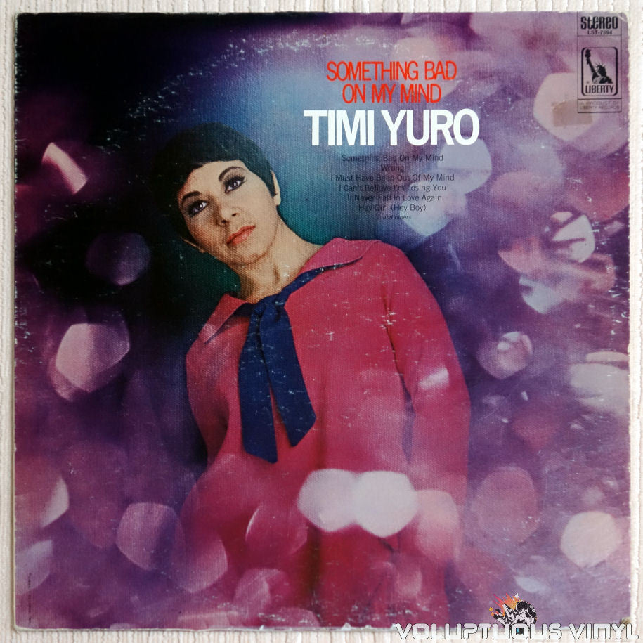 Timi Yuro ‎– Something Bad On My Mind - Vinyl Record - Front Cover