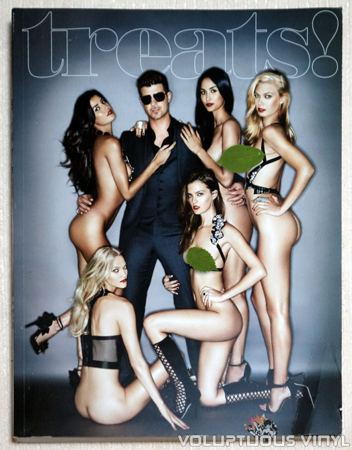 Treats! Magazine Issue 6 - Robin Thicke - Front Cover