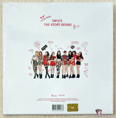 Twice ‎– The Story Begins CD back cover
