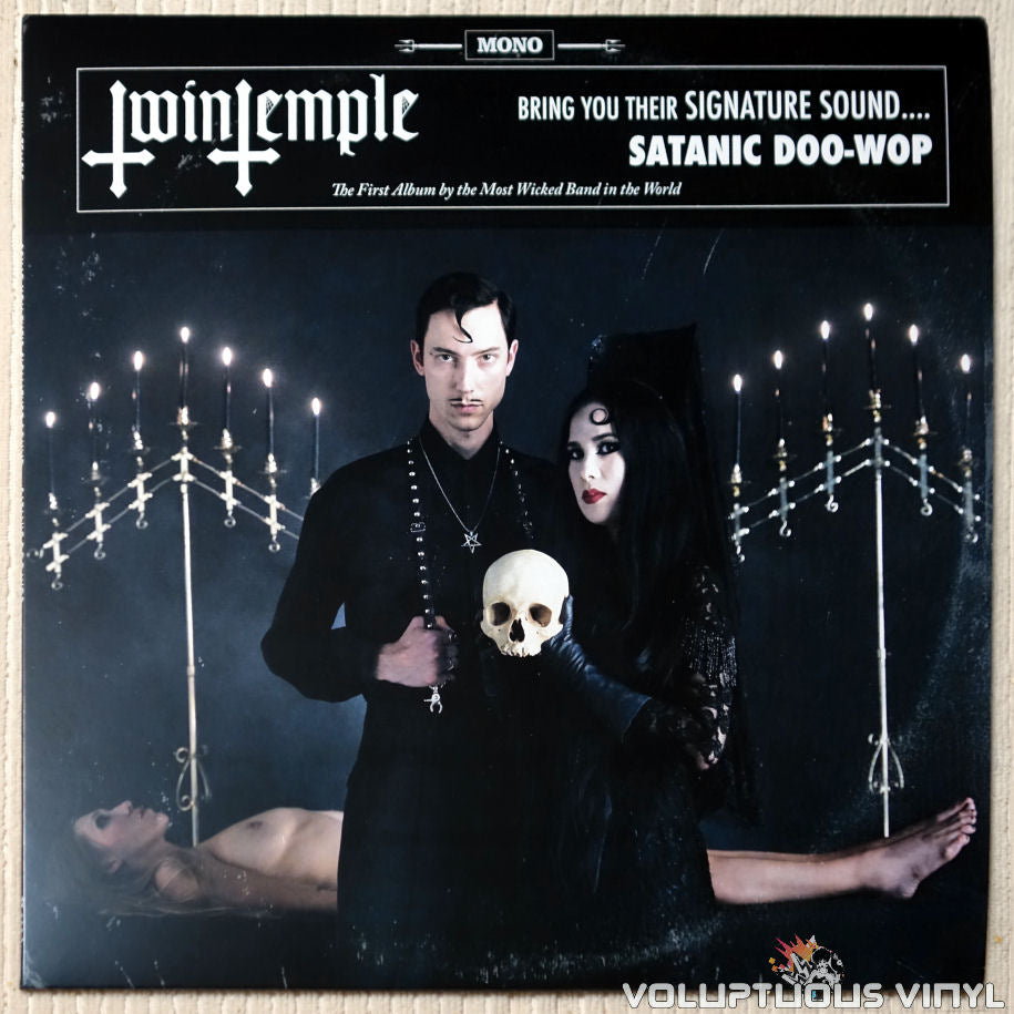 Twin Temple ‎– Twin Temple (Bring You Their Signature Sound.... Satanic Doo-Wop) vinyl record front cover