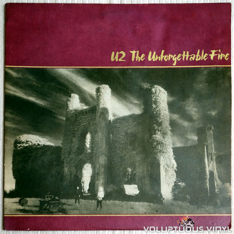 U2 ‎– The Unforgettable Fire - Vinyl Record - Front Cover