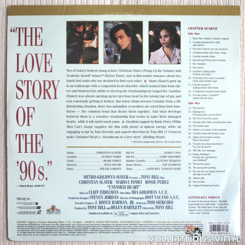 Untamed Heart - LaserDisc - Back Cover