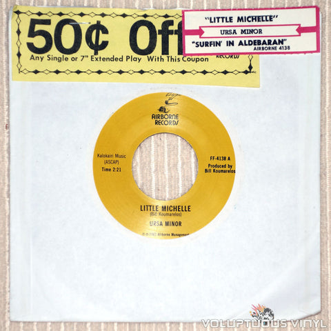 "Ursa Minor ‎– Little Michelle - 7"" Vinyl Single"