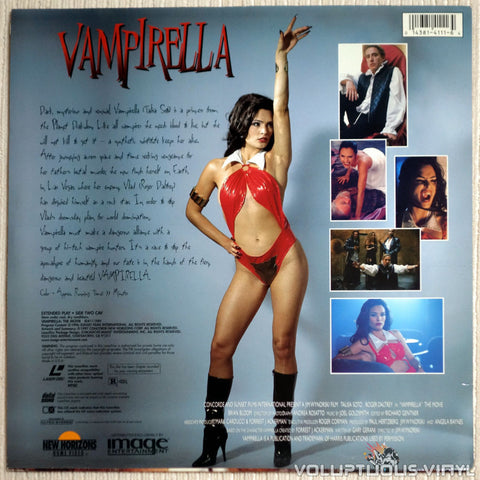 Vampirella: The Movie - LaserDisc - Back Cover