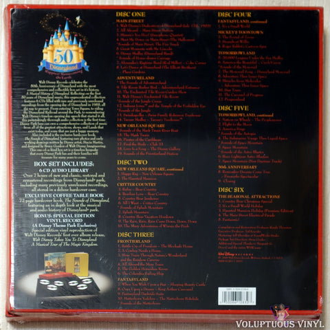 Various ‎– A Musical History Of Disneyland CD Box Set back cover