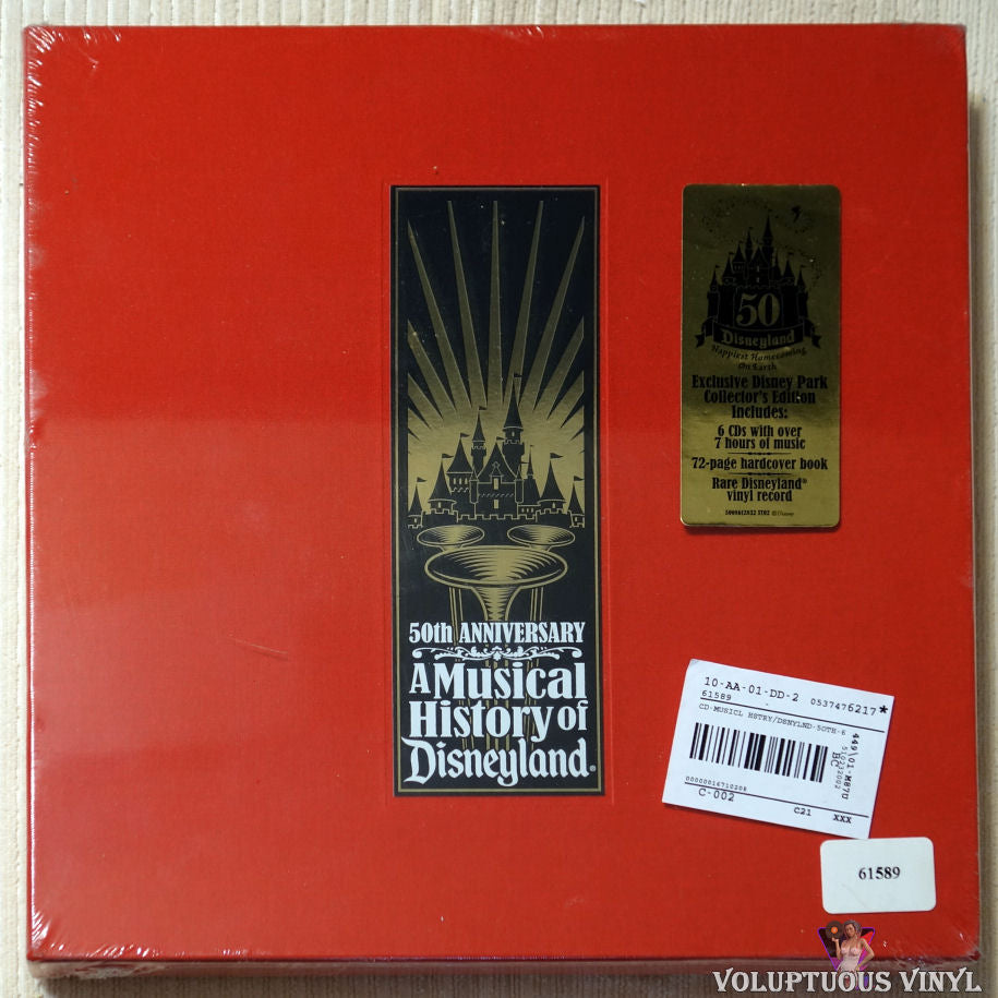 Various ‎– A Musical History Of Disneyland CD Box Set front cover