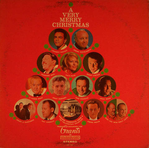 Various ‎– A Very Merry Christmas (1967) Vinyl Record