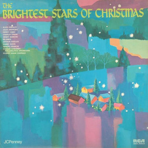 Various ‎– The Brightest Stars Of Christmas vinyl record front cover