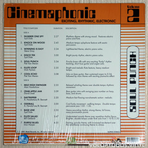 Various ‎– Cinemaphonic Volume 2: Soul Punch - Vinyl Record - Back Cover