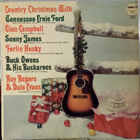 Various ‎– Country Christmas vinyl record front cover
