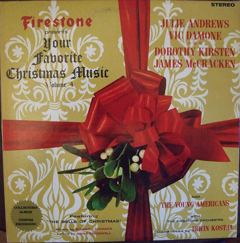 Various ‎– Firestone Presents Your Favorite Christmas Music Volume 4 (1965) STEREO Vinyl Record