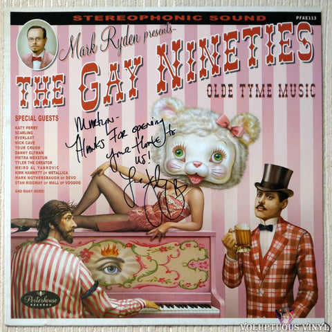 Various ‎– The Gay Nineties Olde Tyme Music (2014) Limited Edition, Numbered, Autographed, Red Vinyl (Autograph and Inscription on front from Katy Perry)
