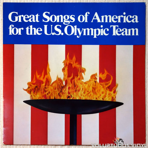 Various ‎– Great Songs Of America For The U.S. Olympic Team vinyl record front cover