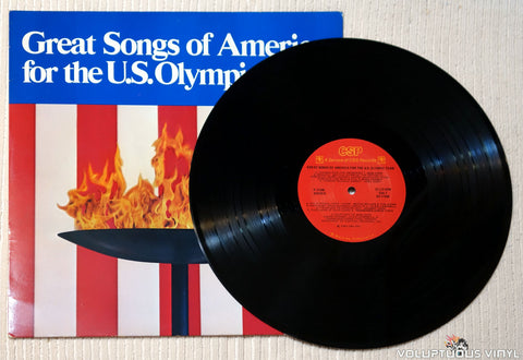 Various ‎– Great Songs Of America For The U.S. Olympic Team vinyl record